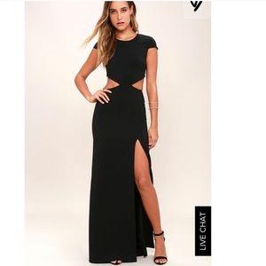 Lulu's Black Cut Out Formal Dress